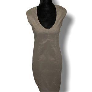 SARAH PACINI LINEN BLEND DRESS MADE IN ITALY SZ S